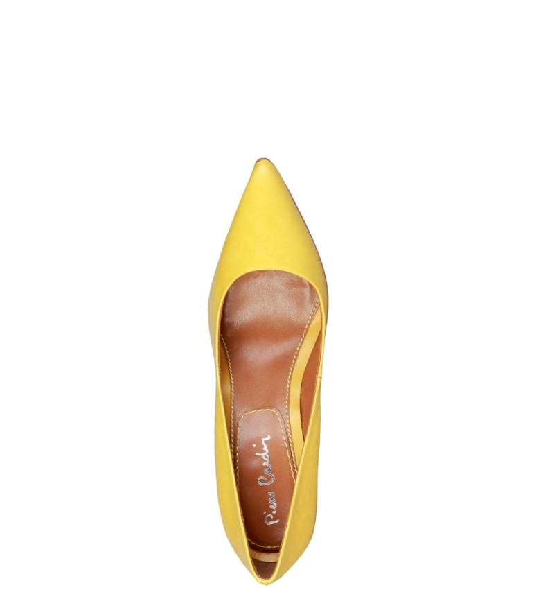 Cardin Pierre Zapatos Altura de piel Mathilde amarillo 10cm tacón TddRw