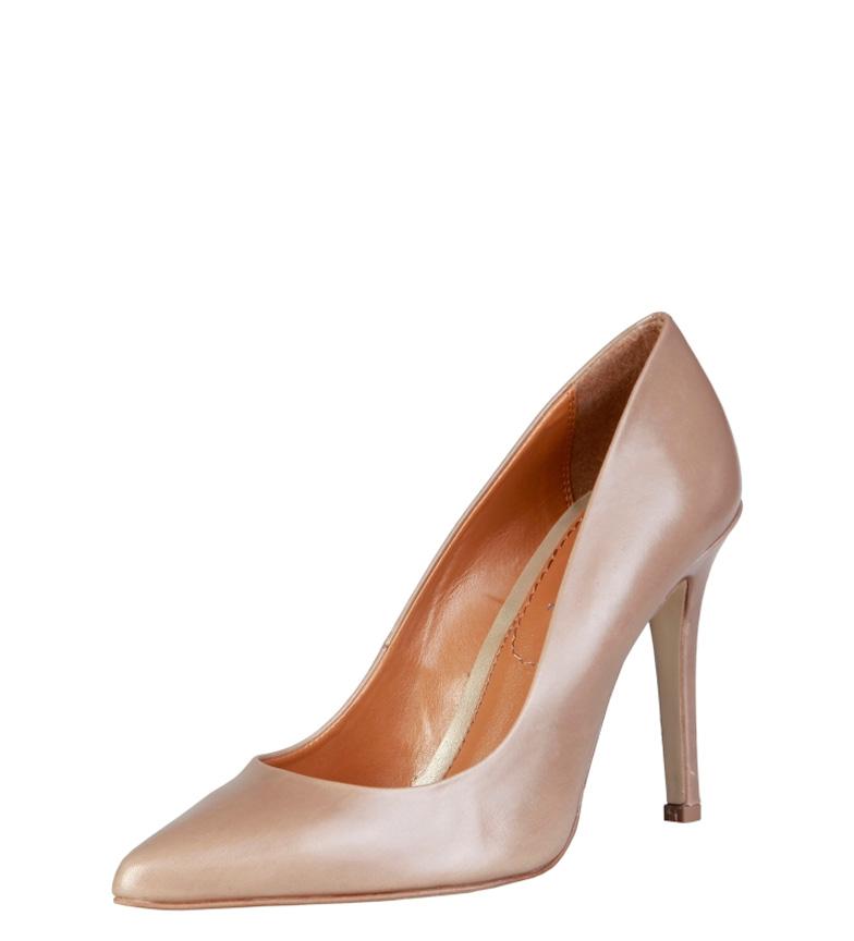 Mathilde de piel tacón Zapatos Pierre Cardin marrón 10cm Altura aUZqwI4w