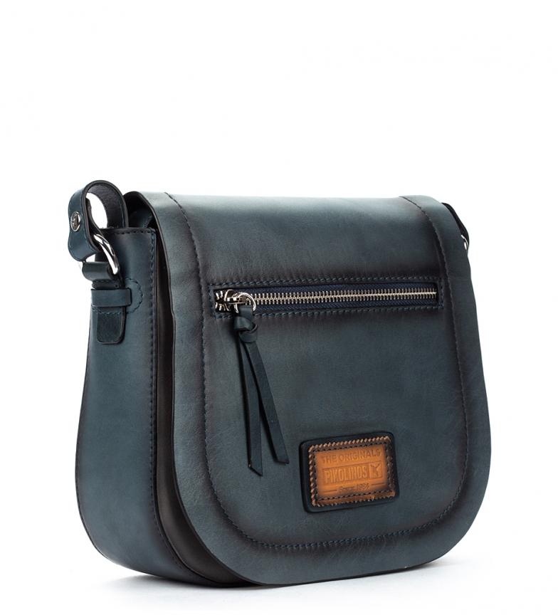 Comprar Pikolinos Alcora WHA marine leather shoulder bag - 24 x22x7cm