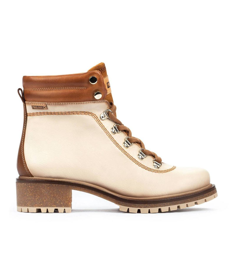 Comprar Pikolinos Leather boots Aspe W9Z ivory -Heel height: 4.3cm