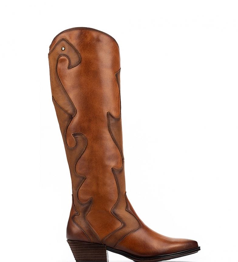 Comprar Pikolinos Botas de piel Vergel W5Z brandy -Altura tacón 4,6 cm-