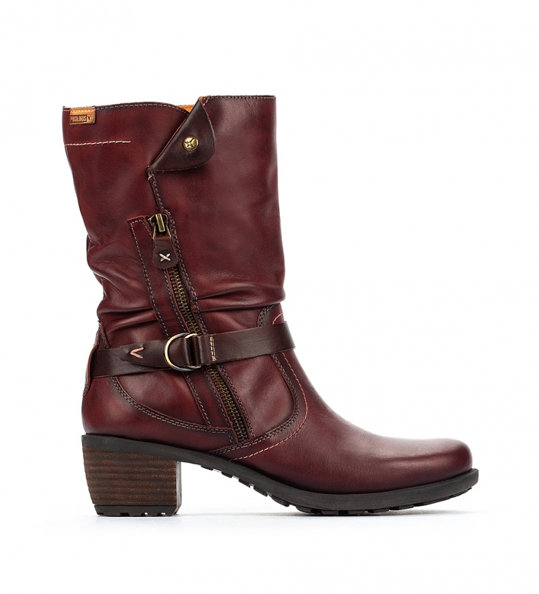 Comprar Pikolinos Leather boots Le MANS clay -Heel height 5,5 cm