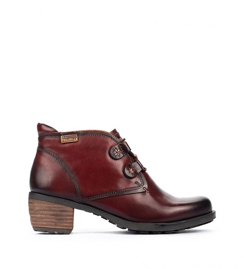 Comprar Pikolinos Botas de couro do tornozelo de Le Mans Burgundy - Altura do calcanhar 5,5 cm