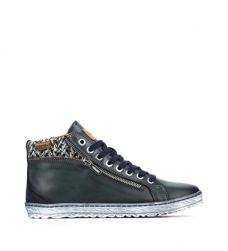 Comprar Pikolinos Lagos 901 dark blue leather ankle boots