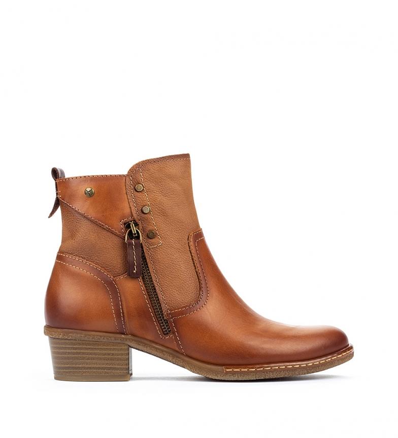 Comprar Pikolinos Zaragoza W9H botas de couro para tornozelo brandy - altura da roda 4,5 cm