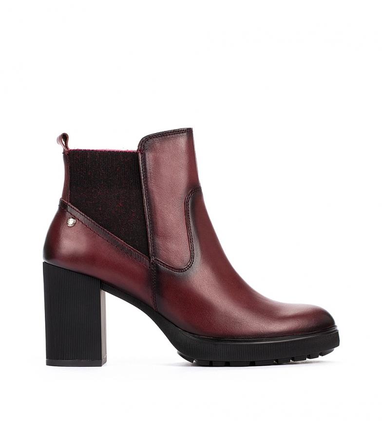 Comprar Pikolinos Sagunto W4Z dark brown leather ankle boots -heel height 8,3 cm