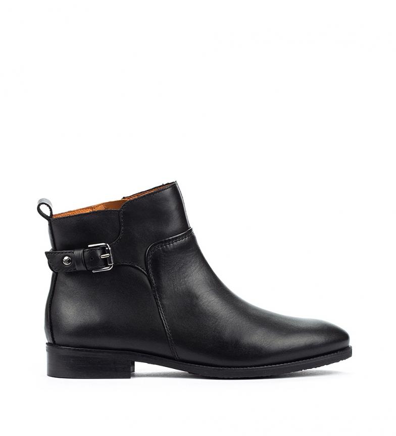Comprar Pikolinos Royal W4D Botas de couro preto - Altura do calcanhar 2,5 cm