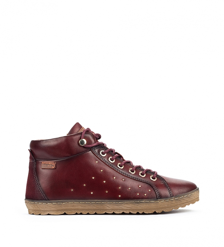 Comprar Pikolinos Lagos 901 burgundy leather ankle boots