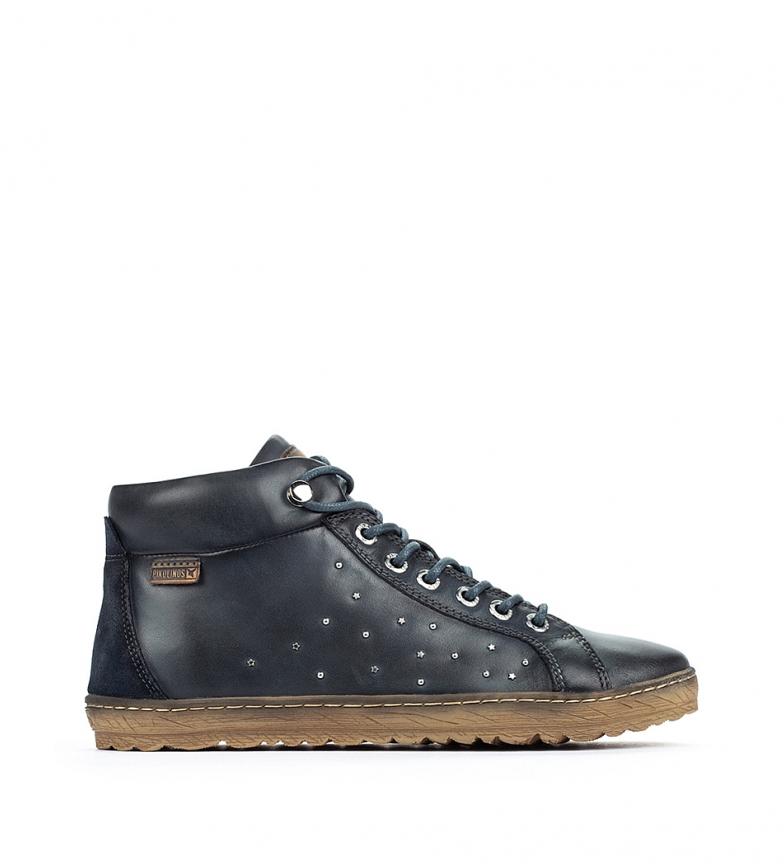 Comprar Pikolinos Lagos 901 botas de tornozelo em couro azul escuro