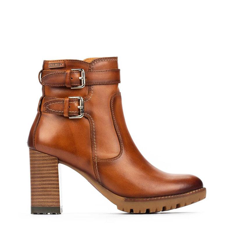 Comprar Pikolinos Connelly W7M brandy botas de couro - Altura do calcanhar: 9cm