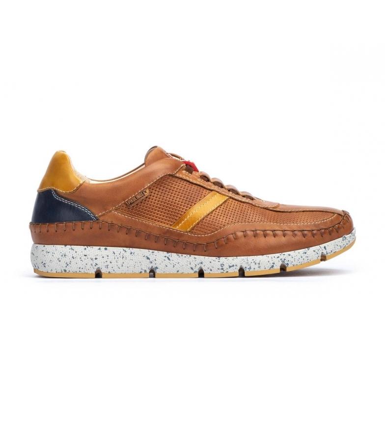 Pikolinos Fuencarral M4U brown leather sneakers brown