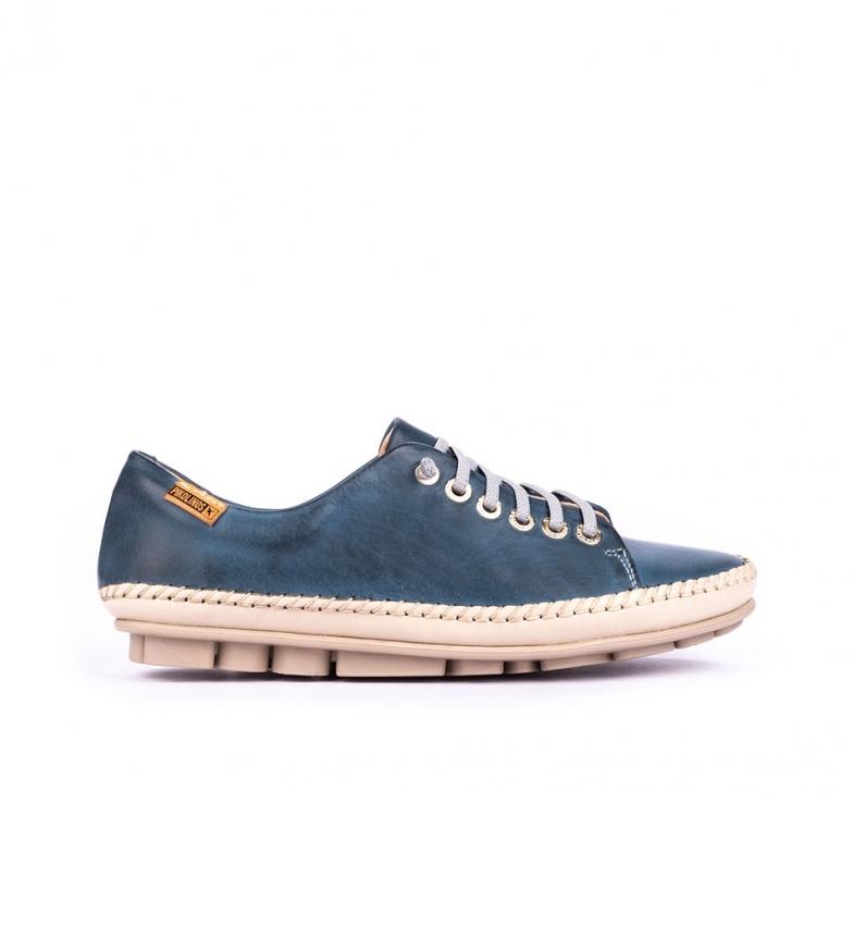 Comprar Pikolinos Zapatillas de piel Riola W3Y azul