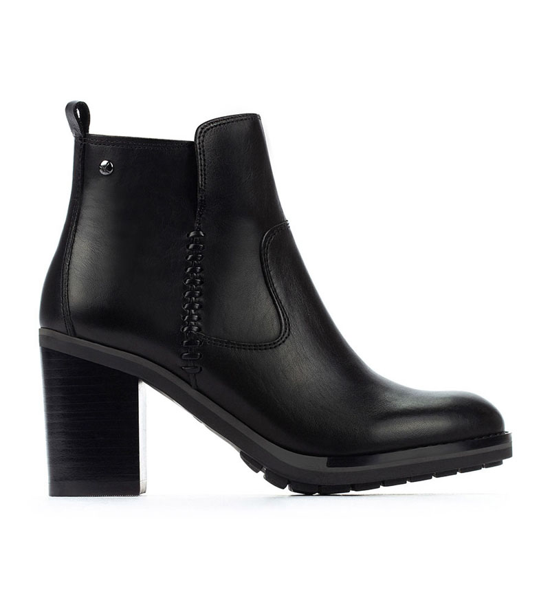 Comprar Pikolinos Pompeii leather boots W9T black -Heel height: 8.5cm