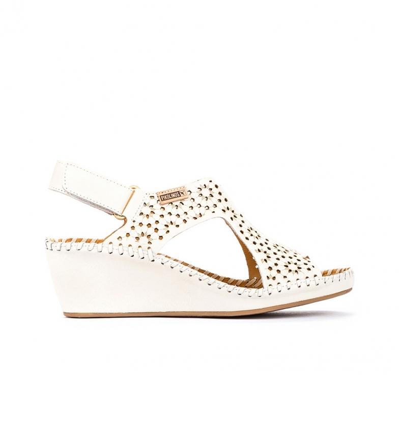 Comprar Pikolinos Leather Sandals Margarita 943 white - Wedge height: 5cm