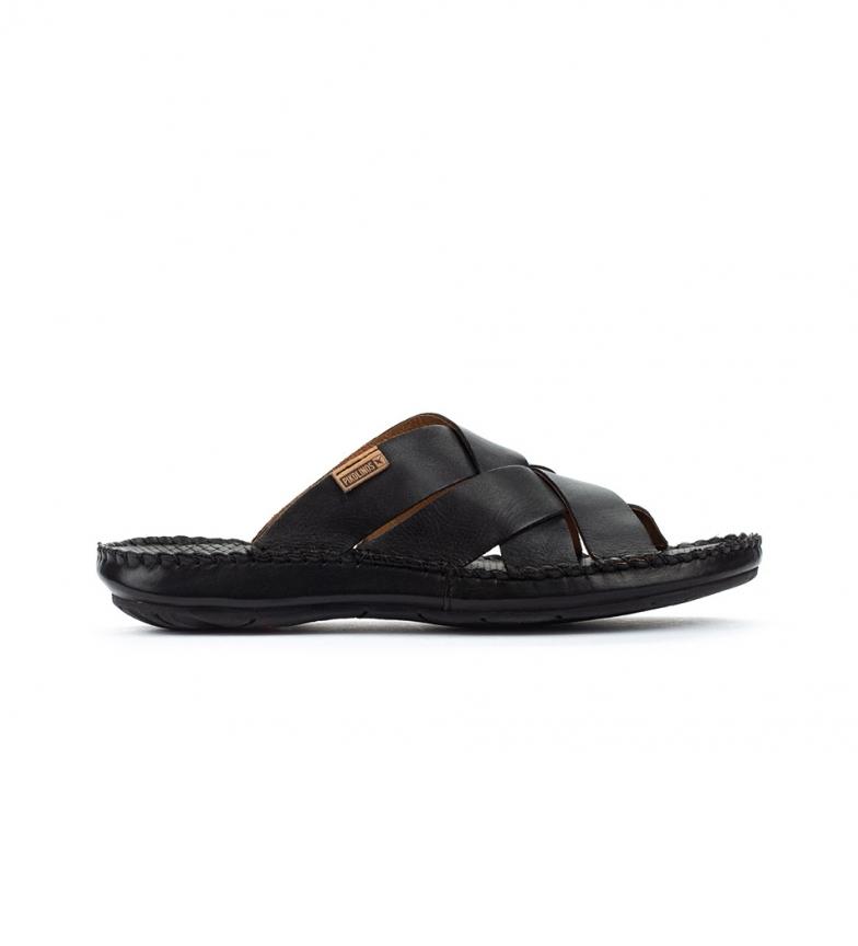 Pikolinos Leather sandals Tarifa 06J black