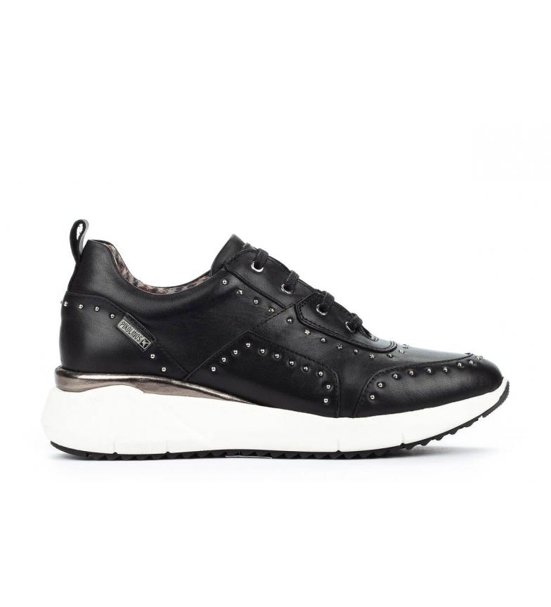 Comprar Pikolinos Sella W6Z baskets en cuir noir - Hauteur de cale : 4.3cm
