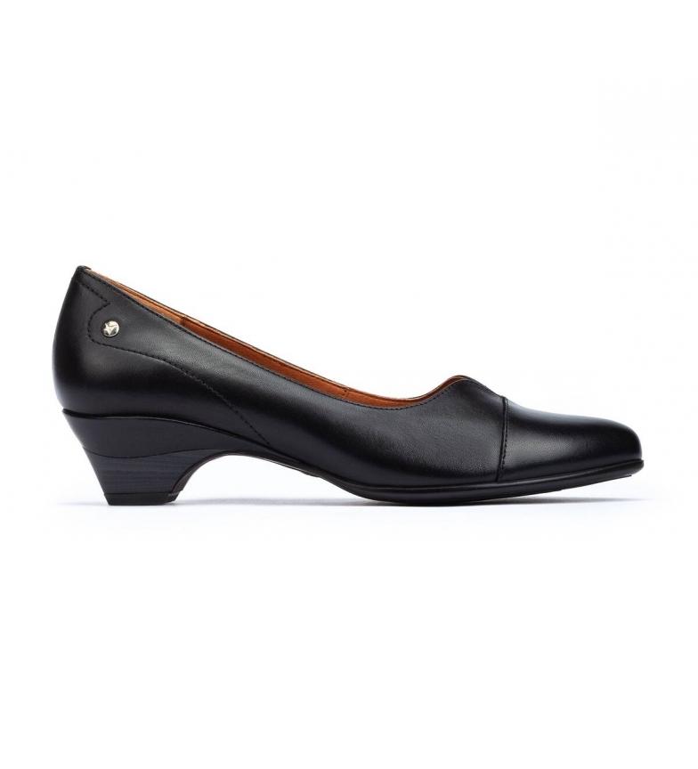 Pikolinos Chaussures en cuir blanc noir