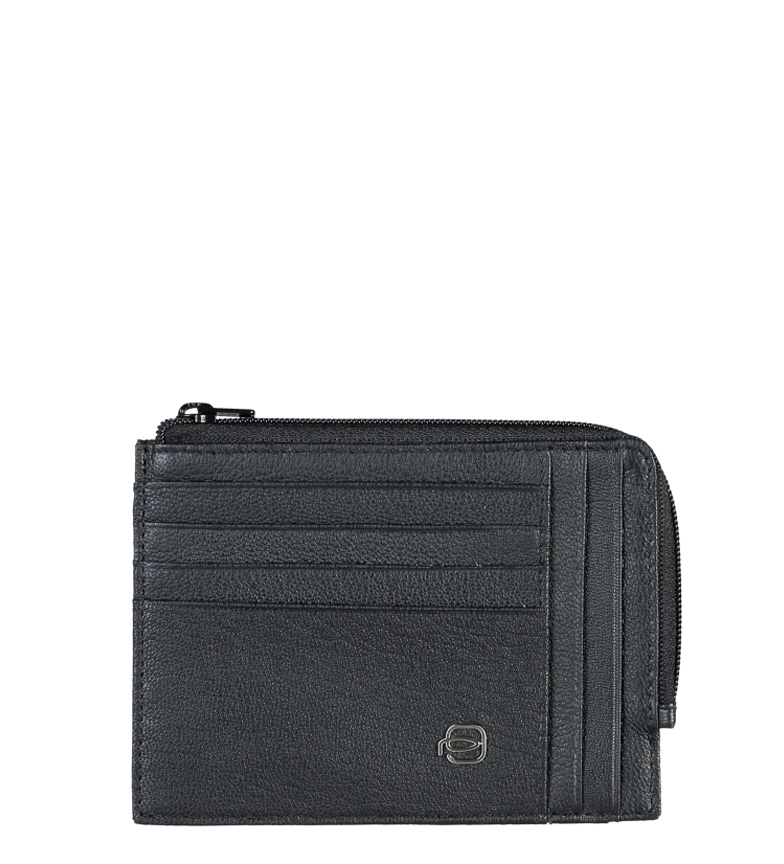 Comprar Piquadro Porte-monnaie en cuir noir PU1243X2 -13x10x2cm-