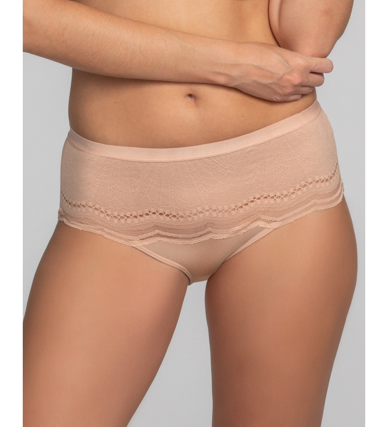 Comprar Playtex Pantaloni Midi Secret Comfort con pizzo e griglia naturale