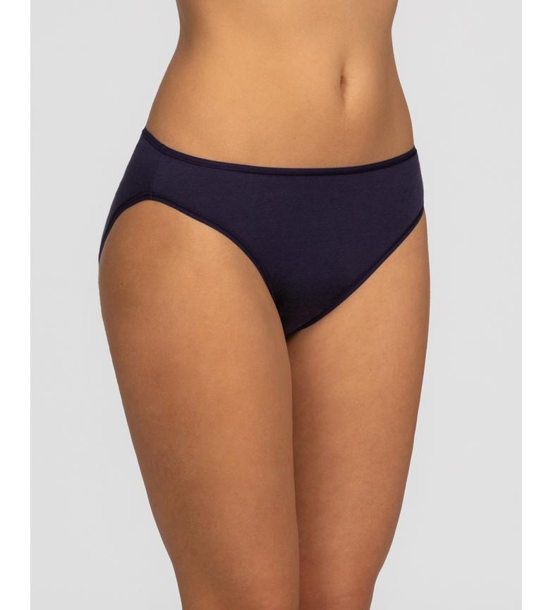 Comprar Playtex Pack de 2 Bragas Bikini de Algodón negro, floral blanco