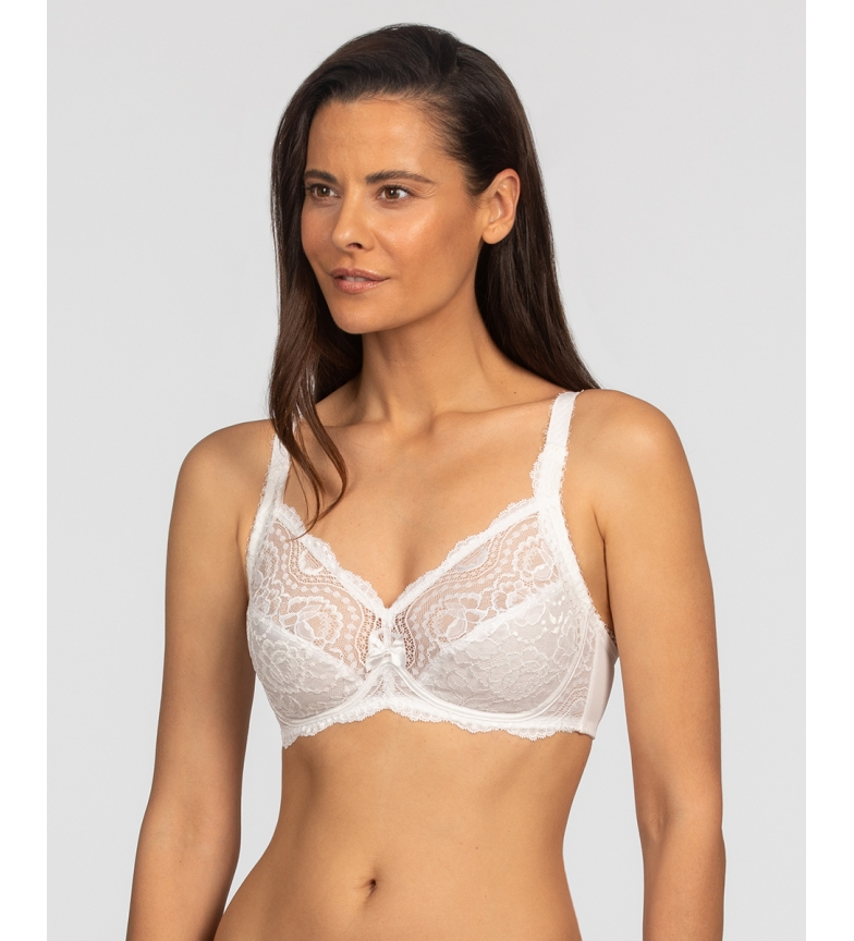 Playtex Underwired Floral Lace Bra Sophisticated White