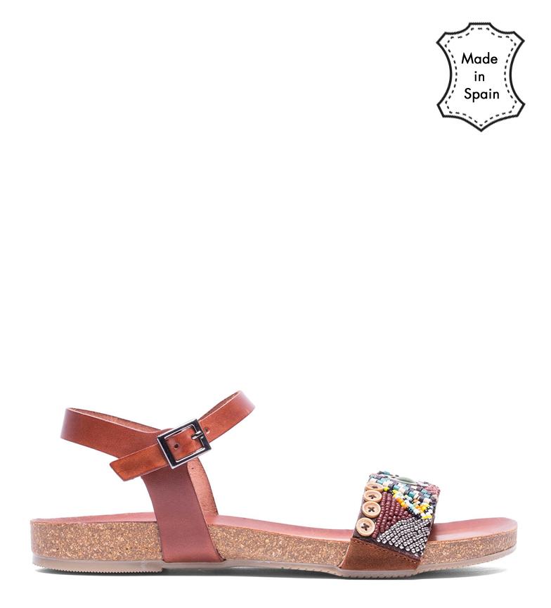 Comprar porronet Diana brown leather sandals