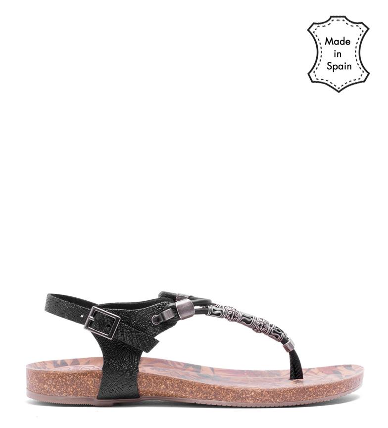 Comprar porronet Daphne leather sandals black