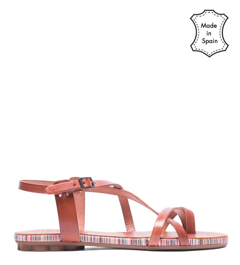 Comprar porronet Manon brown leather sandals