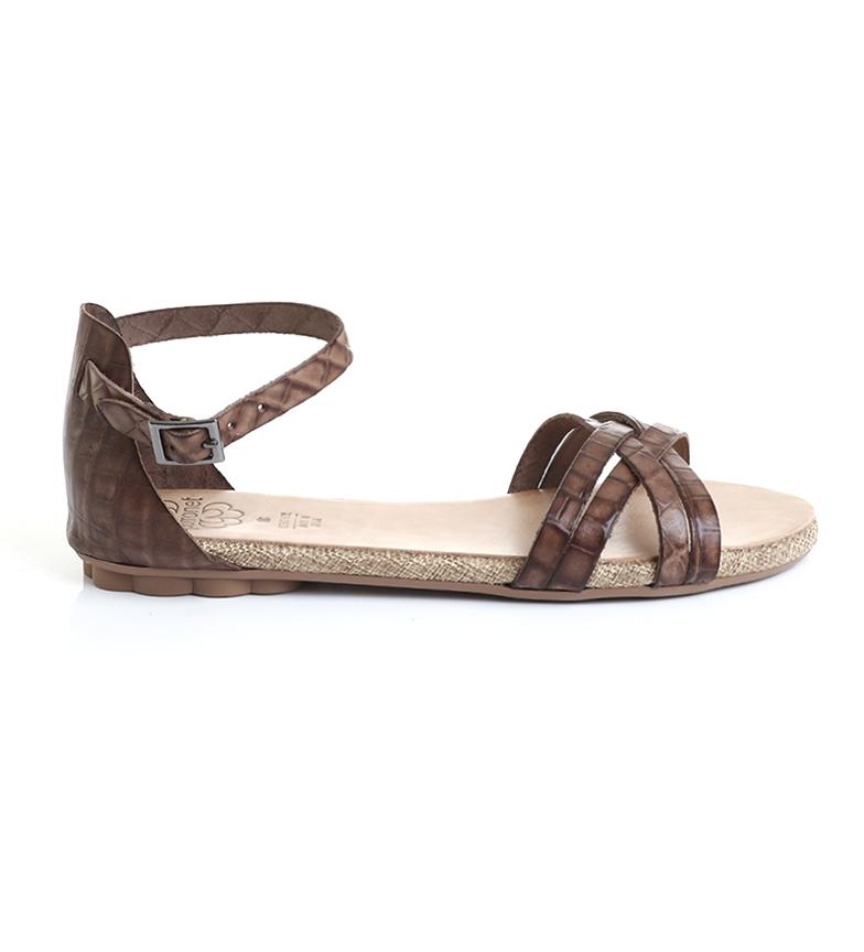 Comprar porronet Sandalias de piel planas 2604 marrón