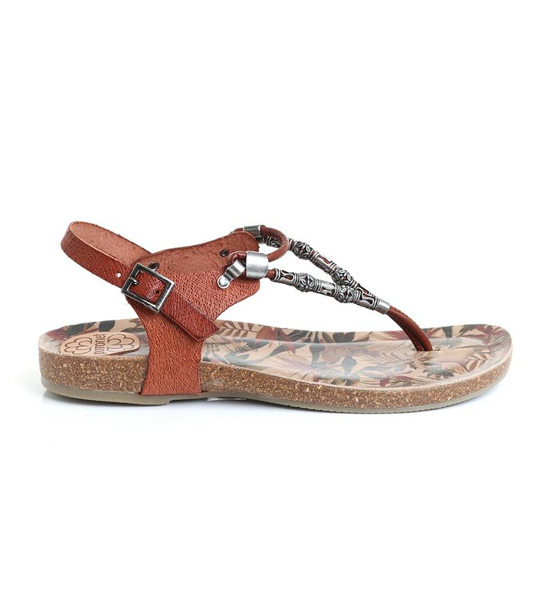 Comprar porronet Flat leather sandals brown FI2533
