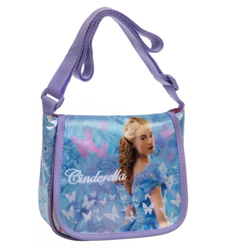 Comprar Princesas Bolsa de ombro com aba azul Cinderela