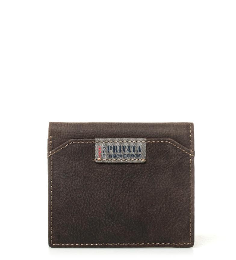 Comprar Privata Carteira de couro marrom -10x8,5cm-