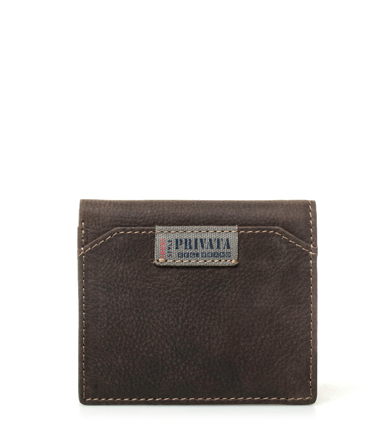 Comprar Privata Leather label wallet brown -10x8,5cm-