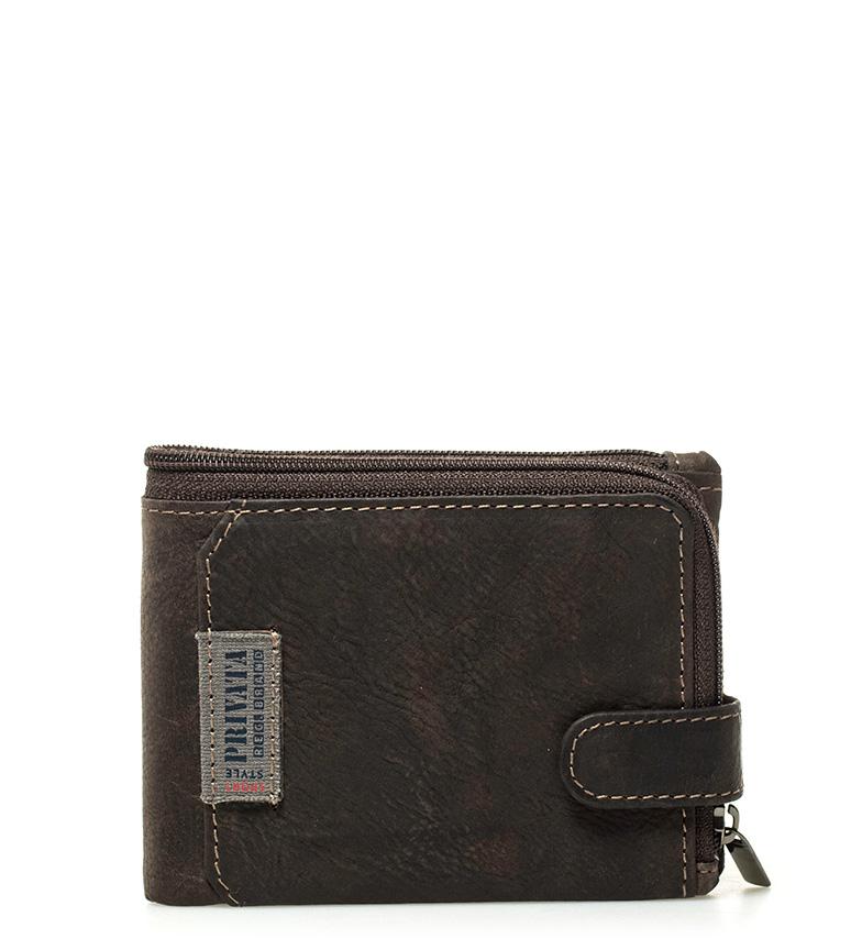 Comprar Privata Leather label wallet Brown -8,5x12cm-