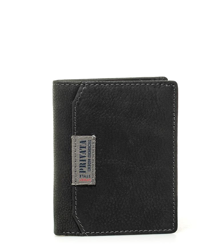 Comprar Privata Leather wallet Label black -11x9cm-