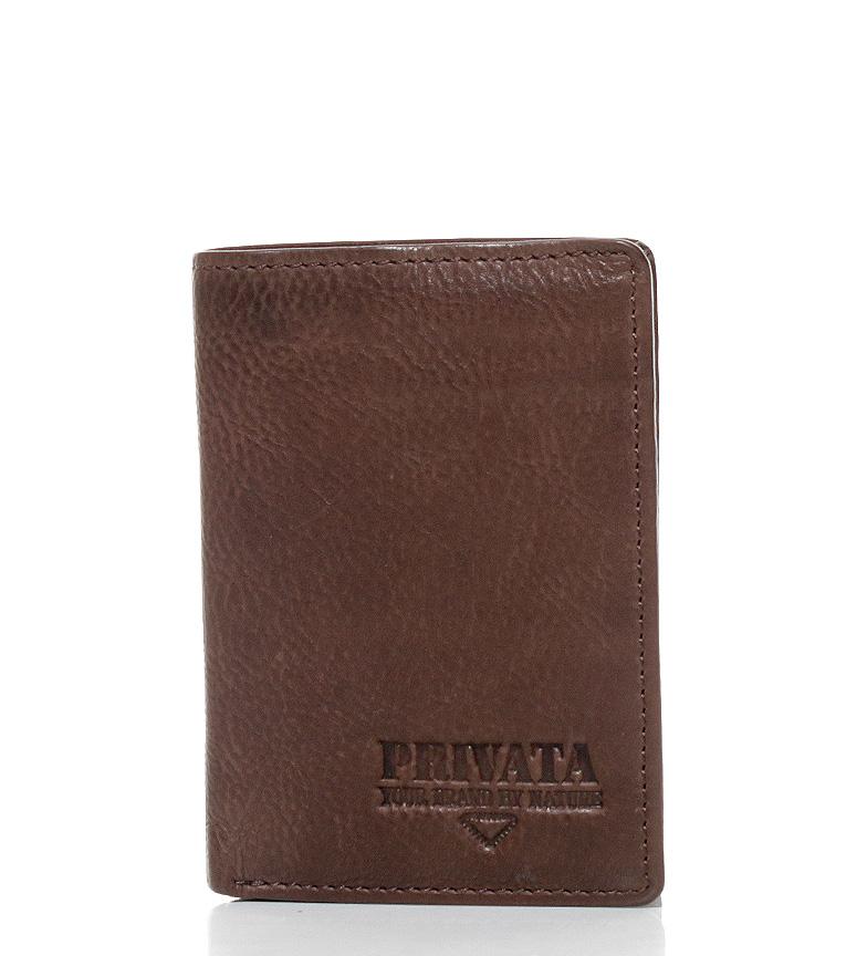 Comprar Privata Billetero de piel Lava marrón-11x8 cm-