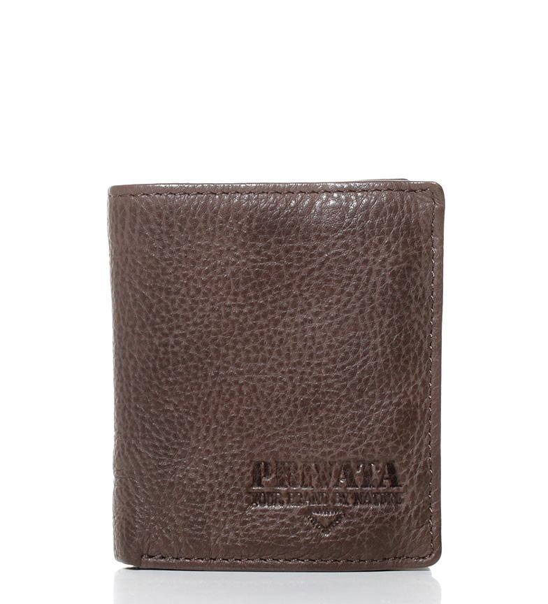 Comprar Privata Leather wallet Lava brown-9x10,5 cm-
