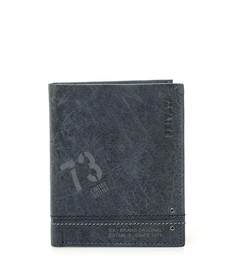 Comprar Privata Leather wallet Teen blue -10,5x8,5cm-