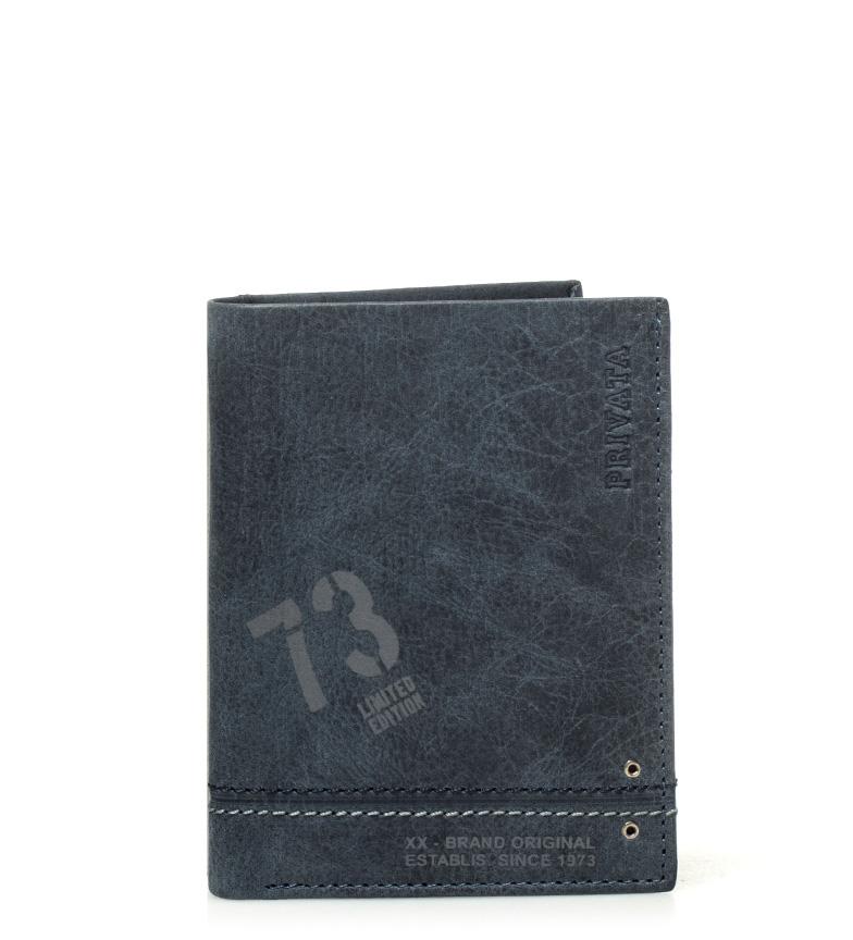 Comprar Privata Portefeuille en cuir Teen bleu -11x8cm-