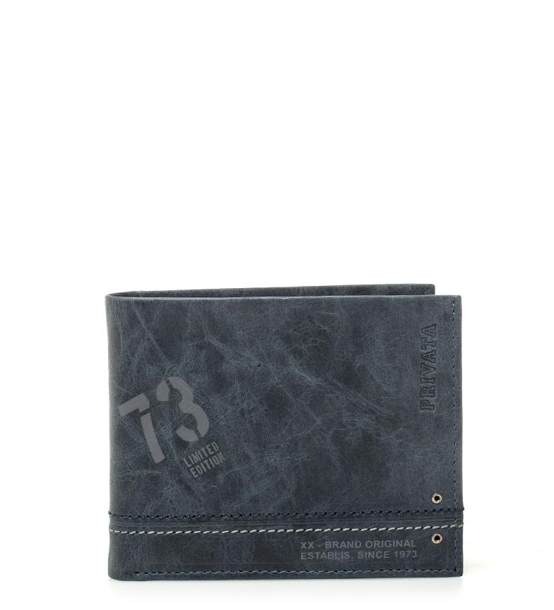 Comprar Privata Carteira de couro Teen azul -8,5x10cm-