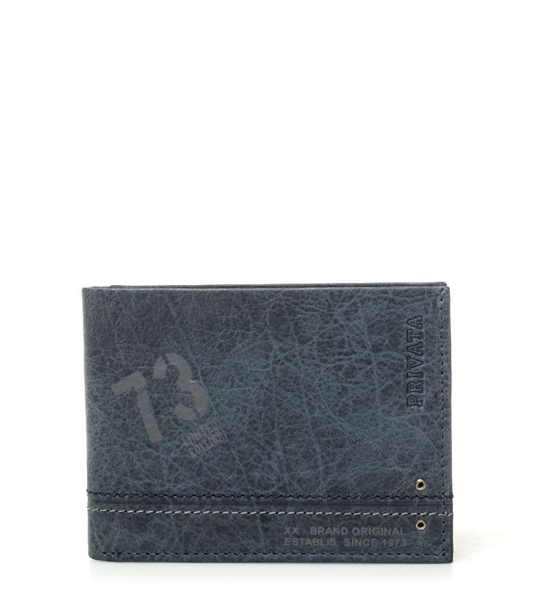 Comprar Privata Billetero de piel Teen azul -8x10,5cm-