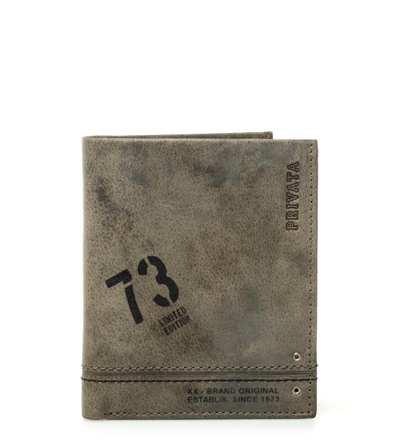 Comprar Privata Carteira de couro Teen kaki -10,5x8,5cm-