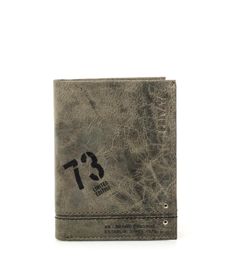 Comprar Privata Carteira de couro Teen Khaki -11x8cm-
