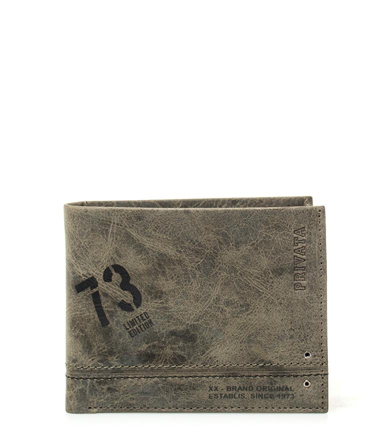 Comprar Privata Leather wallet Teen kaki -8,5x10cm-
