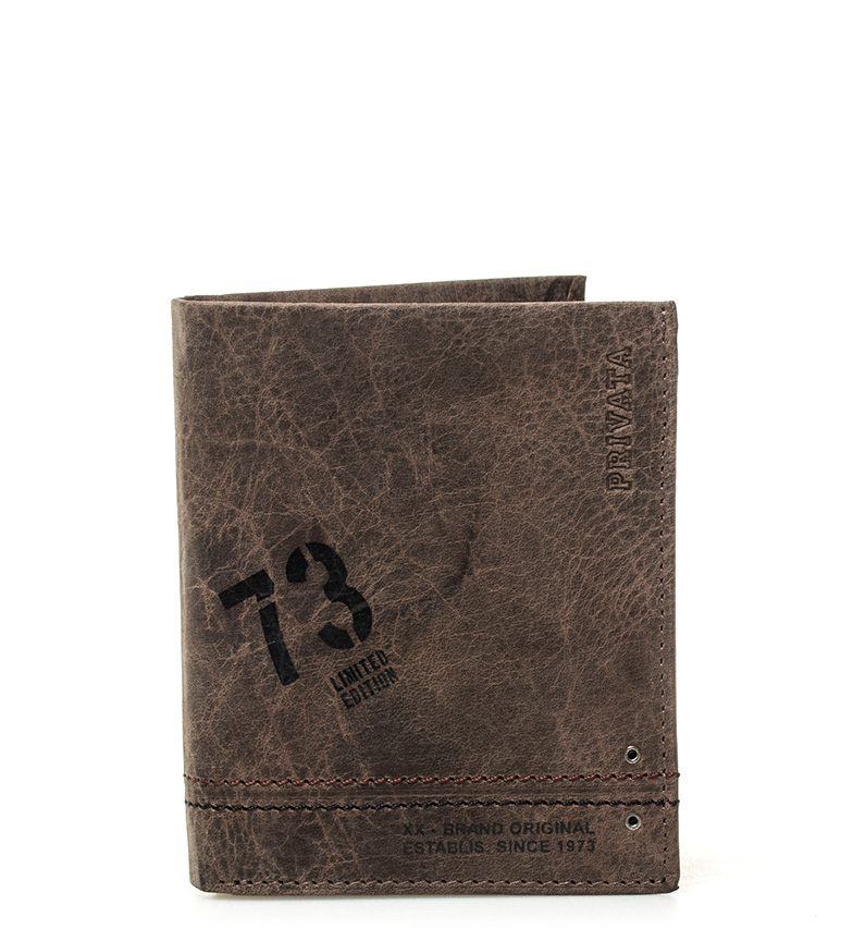 Comprar Privata Leather wallet Brown Teen -10,5x8,5cm-