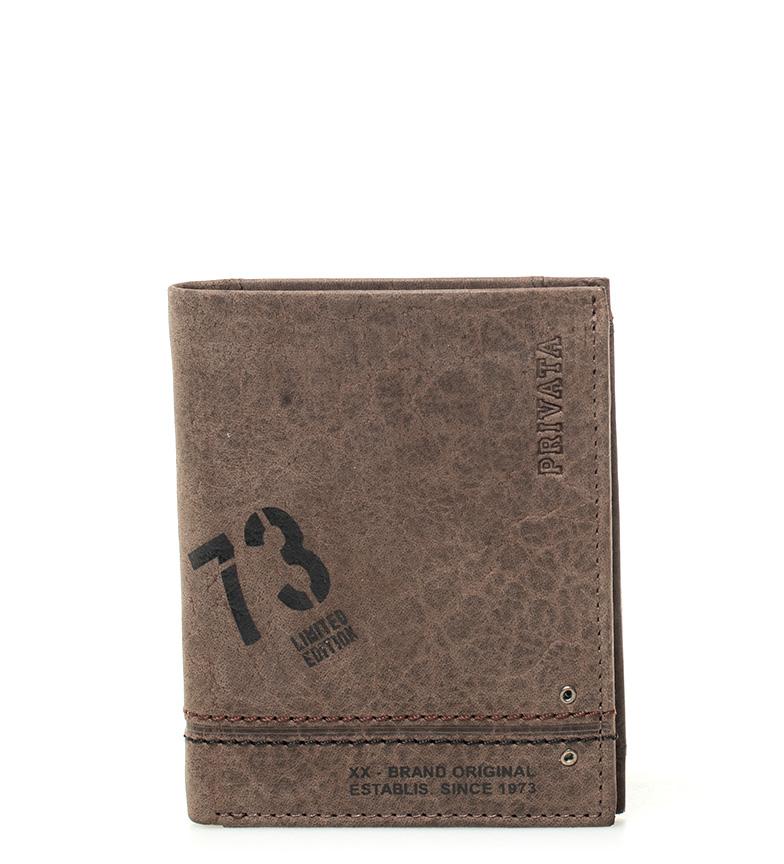 Comprar Privata Portafoglio in pelle Brown Teen -10x8cm-