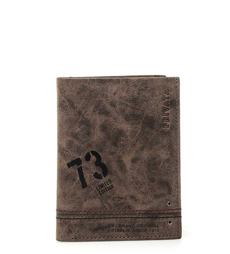 Comprar Privata Carteira de couro Brown Teen -11x8cm-