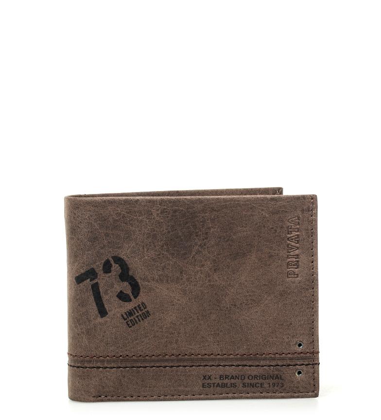 Comprar Privata Portefeuille en cuir Marron ado -8,5x10cm-