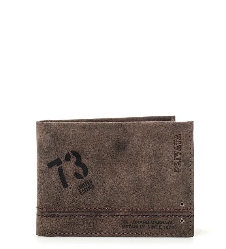 Comprar Privata Carteira de couro marrom Teen -8x10,5cm-