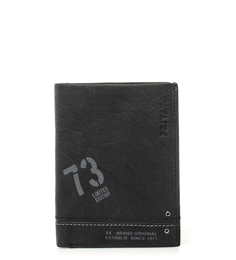 Comprar Privata Leather wallet Teen black -11x8cm-